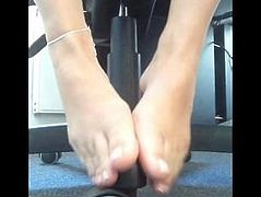 GERMAN SIZE 8 NYLON SHOEPLAY FOOT COMPILATION