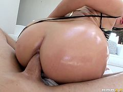 sweet babe gets her ass pounded