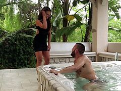 Danny always likes to do things specific, especially when it comes to his girl Adriana. That's why this time around he set up a nice bathtub for the both of them. Adriana loved this romantic idea and got undressed pretty fast. They kissed passionately and without wasting much time she took Danny's big dick and sucked it.