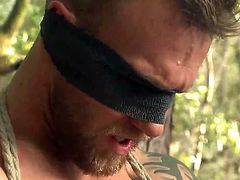 At first, Damien doesn't seem comfortable with the idea of being blindfolded and tied up in a strong rope bondage. Eventually, the hot muscular stud will begin to appreciate this rough treatment, especially after his nipples are sucked with fervor. See the inciting handjob gay scene!