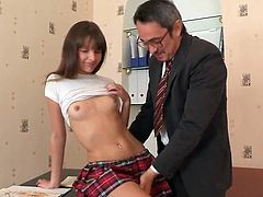 Sleaze School gal having shaged For brown eye cumload By lecturer