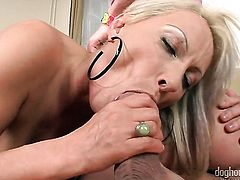 Ann Marie La Sante and hard cocked dude Bob Terminator both have fierce appetite for fucking