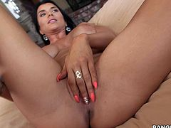 Busty Romi Rain loves black monster cock
