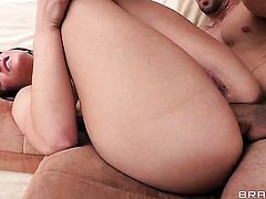Mischa Brooks is on the way to anal orgasm with hard cocked fuck buddy Erik Everhard