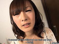 Fujii is a wonderful Japanese girl, she acts scared in