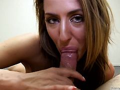 Eye-popping hoochie Sheena Shaw gets her slit fucked by horny guy for your viewing enjoyment