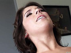 Nicole Ray finds herself blowing Mark Ashleys erect cock