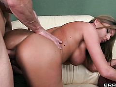 Brianna Brooks with huge knockers gets the pussy fuck of her dreams with hard dicked guy Johnny Sins