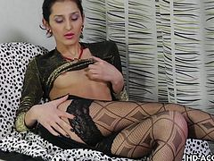 This slutty brunette can do anything for a blowjob. She is not shy to explore, what his man has got. She takes his dick in her mouth and lets it research whole area of her mouth. The man can hardly keep his cum within himself and shoots it on her face.