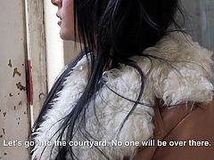 Are you fond of pretty ladies, who are picked up by horny convincing men and get dirty for money? Slutty Charlotte has beautiful long black hair and her big boobs are simply mesmerizing. Click to watch this superb lady sucking dick passionately...