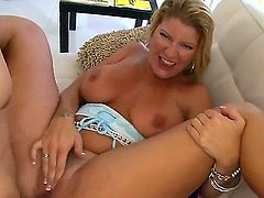 A blonde mom with a big white ass is going to take that cock real fucking deep in her horny and wet fanny. This bitch really wanted it really fucking hard