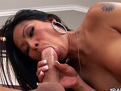 Are sexy exotic brunettes on your list of favorite ladies? This hot Thai bitch is just craving to get a hard dick, stuffed in her lovely cunt. See the busty slut, pounded sideways and from behind, by a passionate lover. The sensual milf enjoys the taste of cock and nothing pleases her most than riding it!