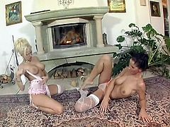 Wonderful sexy beauties in lacy lingerie get ready for pussy teasing time
