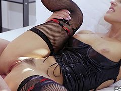 Lusty Blanche enjoys the company of her horny lover, who's easily turned on, while admiring her perfectly-shaped ass. Click to watch this naughty babe, spreading legs widely and getting pounded hard from behind.