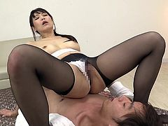 This lusty Asian lady can't take her hands off her partner's dick. The lucky guy gets really horny, while they both enjoy the kinky 69 position. Click to watch the luscious brunette bitch, revealing her lovely tits and riding cock passionately!