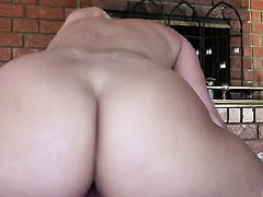 Huge ass babe is riding a dick