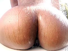 Slutty Chanell has many surprises in store, to enchant lusty lovers with. Click to watch her seducing a white boy, by exposing her crazy buttocks with a provocative attitude. See the luscious ebony bitch, sucking cock and enjoying the kinky 69 position. Have fun!