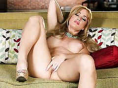 Solo girl is displaying herself