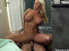 Nikita Von James takes it in her pussy hole after Johnny Sinss dick becomes stiff and hard