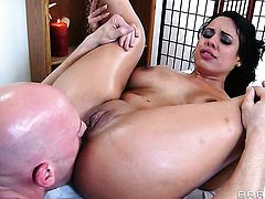 Senora Luna Star finds herself getting slammed by Johnny Sins again and again