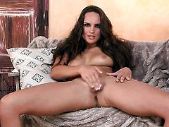 Teal Conrad enjoys another solo sex session