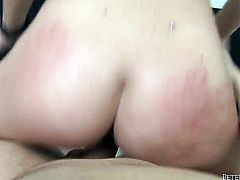 Maddy OReilly and horny dude have a lot of fun in this blowjob action