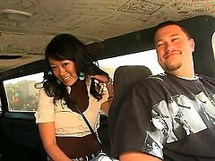 Akira Lei is a lovely Asian brunette that is caught fucking in the back of a van. She is hungry for dick and the guy that she is with does not disappoint her.