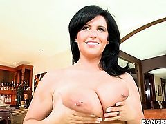 Milf with natural big tits is fucked well