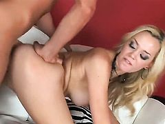 Annette Schwarz loses control after sticking dildo in her honeypot