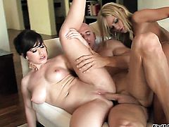 Johnny Sins stretches horny as hell Jennifer Whites mouth with his hard love torpedo to the limit before she gets fucked in her ass way