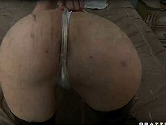 Keiran Lee makes Diana Prince with massive jugs gag on his thick fuck stick after backdoor sex