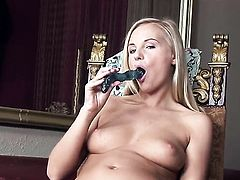 Barbie White masturbates to orgasm in solo action