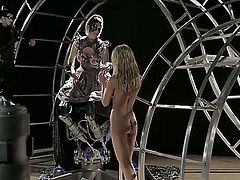 Julia Ann is in the underworld scene and she is filmed as she is sucking a dick for some reason. She is doing it like a pro in this futuristic scene.