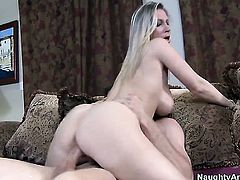 Jordan Ash is horny as hell and cant wait no more to slam Devon Lee with big melons