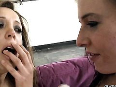 Ashli Orion looks for a chance to get orgasm after pussy eating with Francesca Le