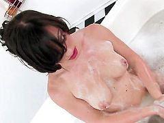 Jennifer White is horny as hell and fucks herself with her fingers with wild passion