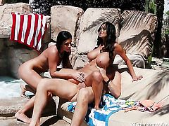 India Summer with round bottom and hairless cunt is the one hot guy Clover loves to fuck