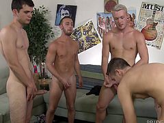 Cock Virgins Sucking 3 Dicks At Once