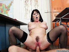 Alluring tramp Rayveness with big butt and hard dicked dude Dane Cross have a lot of sexual energy to spend