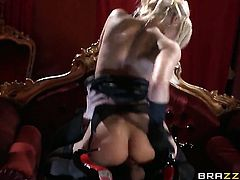 Danny D stretches dangerously seductive Tia Laynes mouth with his thick ram rod to the point of no r