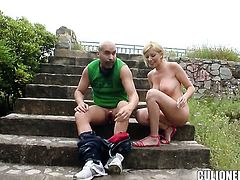 Donna Bell with juicy butt takes man meat in her hole