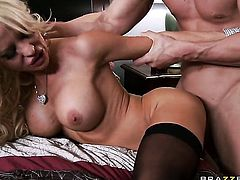Johnny Sins attacks unthinkably hot Helly HellfireS wet hole with his love torpedo