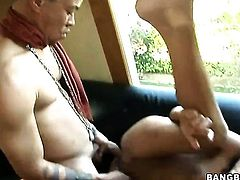 Threesome with two young babes