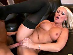 Gorgeous milf Diana Doll fucked in stockings