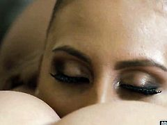 Prettied up wench gets the hole between her legs used by her lesbian lover Missy Martinez