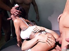 Gia Dimarco with huge breasts is just another anal fucktoy of hot guy Marco Banderas
