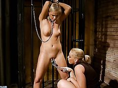 Blonde Kathia Nobili and Barbie White are so fucking horny in this girl-on-girl action