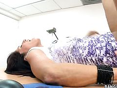 Brunette senora is totally addicted to cock stroking