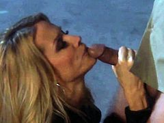 Jessica drake gets mouth banged by guys rock hard cock