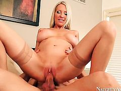 Emma Starr with big melons and clean bush has fire in her eyes as she gets her love box used hard and deep by Johnny Castle